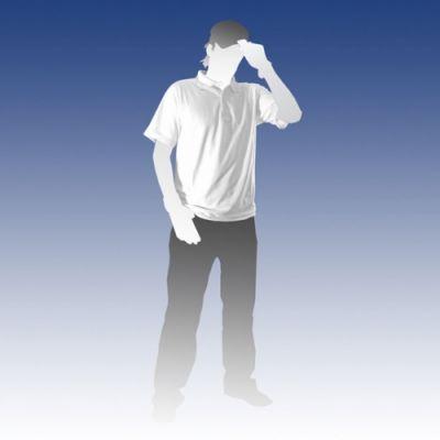 Subli Polo shirt wit - 220 grams maat 3XL